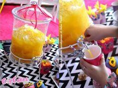 Kara's Party Ideas Drink Canister from a Superhero Barbie Themed Birthday Party via Kara's Party Ideas | KarasPartyIdeas.com (18) | Kara's Party Ideas