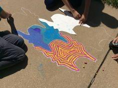 End of school year sidewalk chalk tessellations
