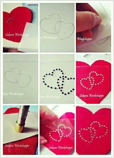 Simplified steps for how to use hot fix rhinestone transfer paper ^^