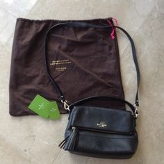 Kate Spade Black Mini Carmen Worn only twice or so and in great condition. Comes with removable cross body strap, top handle and hidden zipper pocket on the top flap. Super cute for all occasions and a must have in everyone's closet! Kate Spade Bags