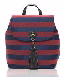 Tommy Hilfiger Rugby Stripe Jacquard Backpack