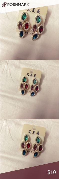 Luxury gold plated crystal earrings Brand new luxury gold plated crystal earrings  Quality guaranteed Jewelry Earrings