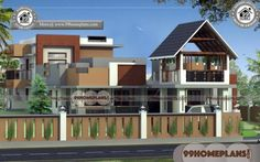 House Designs Contemporary | 90+ 2 Floor House Plans Modern Designs Free House Plans, Simple House Plans, Beautiful House Plans, Modern House Plans, Indian Home Design, Kerala House Design, Indian House Plans, Country House Plans, House Front Design