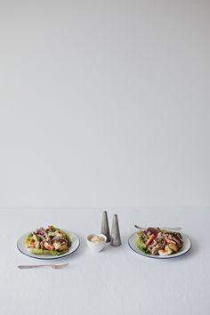 fresh caught seared tuna salad