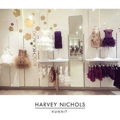 Beautiful Mischka Aoki display at Harvey Nichols Kuwait #mischkaaoki #kuwait #middleeast #harveynichols @harveynicholskuwait