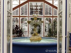 A close-up view of the fountain inside the Pearson Conservatory, Port Elizabeth, South Africa.