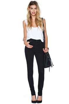 Cheap Monday Second Skin Jeans - Black | Shop Denim at Nasty Gal