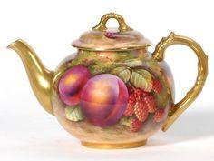 Royal Worcester Porcelain Teapot