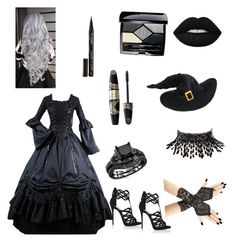 """Victorian Witch"" by transformerlover on Polyvore featuring Giuseppe Zanotti, Lime Crime, Christian Dior, Amrita Singh, Smith & Cult and Max Factor"