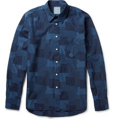 Billy Reid - Patchwork Swiss-Dot Cotton Shirt | MR PORTER