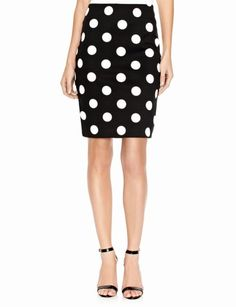 Polka Dot Ponte Pencil Skirt | Women's Skirts | THE LIMITED by rjw88