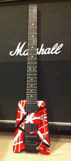 Eddie Van Halen's Steinberger. He used this guitar in Summer Nights.