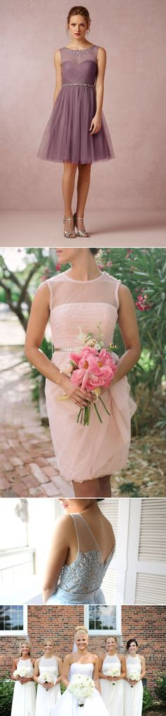 Top 8 Bridesmaid Dress Trends for Summer 2014 - Illusion Necklines