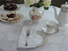 The Garnier-Thiebaut Beauregard Galet cotton tablecloth is a timeless and elegant design. The fine damask fabric brings elegant frost effect to your table.