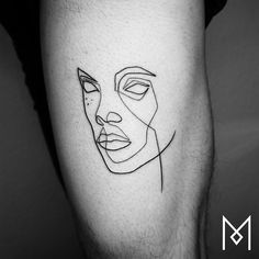 10+ Incredible Tattoos Created Using A Single Continuous Line By Mo Ganji