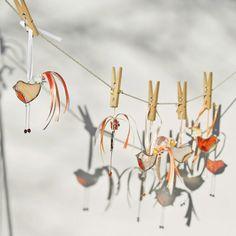 Little Dandy Bird no.73 stained glass bird suncatcher. €20.00, via Etsy.