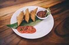 Samosas at Imbir restaurant Leon Nicaragua
