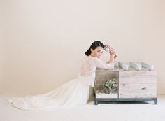 Wedding dress from Truvelle with lace sleeves | Blush Wedding Photography | see more on: http://burnettsboards.com/2014/10/unveiled-today-truvelles-2015-collection/
