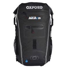 3382e80b594f Oxford Aqua B-25 Motorbike Motorcycle Backpack Rucksack Luggage Black Grey  25l