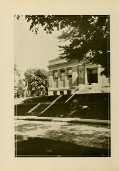 Athena Yearbook, 1926. Before it became the E.W. Scripps building, it was a library. :: Ohio University Archives