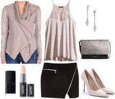 College fashion - class to night out look using a mixed media jacket