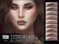 Eyebrows 8 for the Sims 4  Found in TSR Category 'Sims 4 Facial Hair'