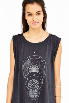 Truly Madly Deeply Mystic Moon Circles Muscle Tee
