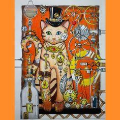 Inspirational Coloring Pages by @sato_mandy #gatos #cats #inspiração…