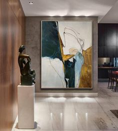Original Abstract Painting, Minimalist Abstract Painting, Large Abstract Painting, Beige Painting Green Painting, Large Wall Canvas Painting Oturma Odası – home accessories Blue Abstract Painting, Oil Painting On Canvas, Abstract Paintings, Large Painting, Famous Abstract Artists, Large Abstract Wall Art, Modern Art Paintings, Abstract Portrait, Portrait Paintings