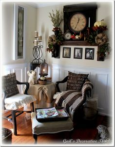 Gail's Decorative Touch: Fall Touches on the Mantel Shelf
