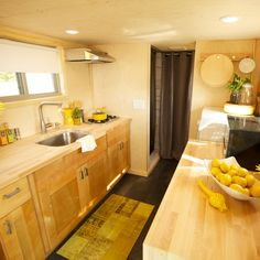 Could you guess that this kitchen is in a house smaller than 500 square feet!? #TinyHouseNation makes tiny living dreams come true!
