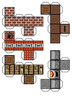 Minecraft printables to make blocks and more from paper. SO cool!