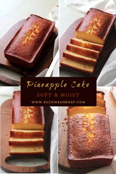 A deliciously moist & fluffy cake made from crushed pineapples. Makes for a perfect tea time or anytime treat! #pineapplecake #cake #teacake #teatimecake