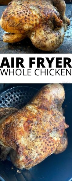 Air Fryer Whole Chicken - Moola Saving Mom Moola Saving Mom, Chicken Rub, Poultry Seasoning, Stuffed Whole Chicken, Super Easy, Chicken Recipes, Paleo, Homemade, Cooking