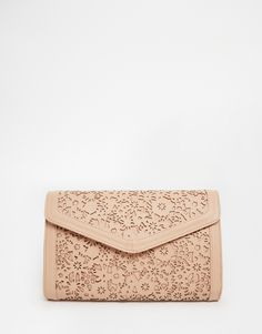 Image 1 of ASOS Envelope Clutch Bag With Cut Out