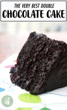 Chocolate Glaze Recipes, Chocolate Desserts, Chocolate Ganache, Baking Recipes, Cake Recipes, Dessert Recipes, Brownie Recipes, Food Cakes, Cupcake Cakes
