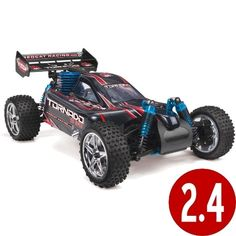 Redcat Racing Tornado S30 Buggy Nitro with 2.4GHz Radio (1/10 Scale), Blue/Red
