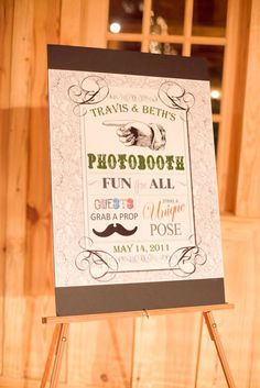 Sorry another Photobooth idea! This is a must for me!