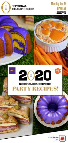 Early recipes for your ESPN College Football Playoff National Championship party – Creative Dress Of College Game Day College Gameday Signs, Espn College Football, Football Food, Clemson Football, Football Uniforms, Lsu, Game Day Snacks, Game Day Food, Southern Pound Cake
