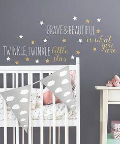 Twinkle Twinkle Little Star Nursery Wall Decorations; Twinkle Little Star Wall Decals; A Star Is Born; Gift for new mom by on Etsy Star Themed Nursery, Star Nursery, Baby Nursery Decor, Nursery Ideas, Girl Nursery Themes, Room Ideas, Room Themes, Decor Ideas, Moon Nursery