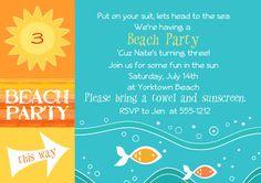 Beach Party Invitation Template Fresh Beach Party Invitations Templates – Invitation Ideas for 2020 Beach Party Invitations, Birthday Party Invitation Wording, Cocktail Party Invitation, Invitation Ideas, Invitation Templates, 18th Birthday Party, Birthday Party Themes, Theme Parties, Party Signs