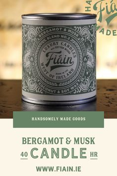 Bergamot & Musk has been nicknamed the boyfriend candle by our customers. Ever passed someone in the street & their cologne has lingered in the air? You want to approach and ask them what it is... but of course you don't. Well, we've perfected that aftershave & infused it into this amazing candle. Hitting sharp notes of bergamot, ceder wood, warm leather and musk. #premiumcandle #luxurycandle #coconutwaxcandle #soywaxcandle #fiaincrafted #irishmadecandles