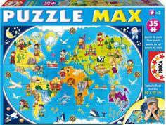 puzzle carte du monde enfant