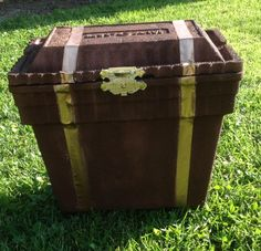 Treasure chest made out of a styrofoam cooler