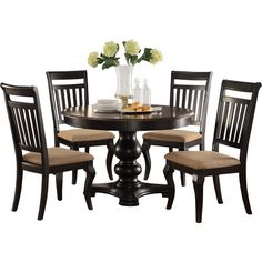 Found it at Wayfair - Bella 5 Piece Dining Set Kitchen Dining Sets, 5 Piece Dining Set, Dining Room Sets, Dining Table, Grace Kitchen, New Kitchen, Dining Furniture, Furniture Ideas, Outdoor Tables