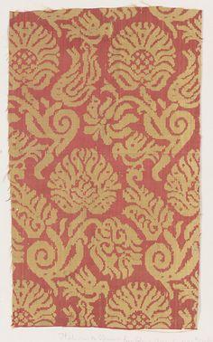 spanish or italian #silk #textile, 16th century, metmuseum