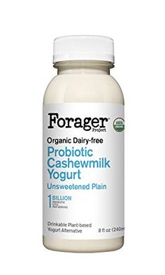Forager Project, Organic Dairy-Free Unsweetened Plain Probiotic Drinkable Cashewmilk Yogurt, 8 Ounce Forager Project