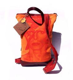 "64 Likes, 3 Comments - Aranka Bandula (@arankabandula_bagswithlove) on Instagram: ""Custommade backpack with Bowie ⚡️@davidbowie #arankabandula #bagswithlove #backpack #bag #designer…"""