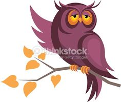 Clipart vectoriel : owl sitting on a branch