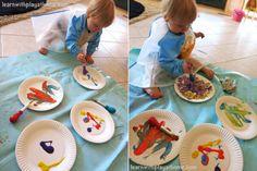 20 atividades artísticas fáceis para uma criança de um ano – parte 2